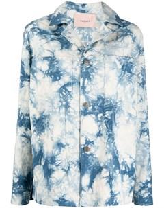 Джинсовая рубашка с принтом тай дай Twinset