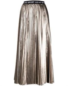 Плиссированная юбка с эффектом металлик Liu jo
