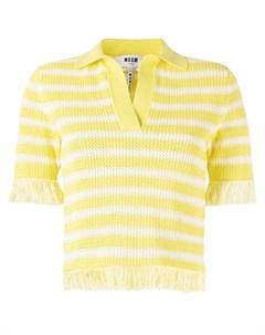 Рубашка поло с бахромой Msgm