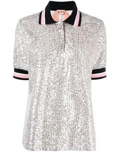 Рубашка поло с пайетками No21