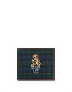 Бумажник Polo Bear с узором тартан Polo ralph lauren