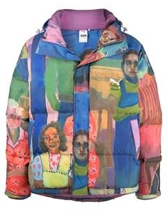 Куртка пуховик с принтом из коллаборации с KidSuper Puma