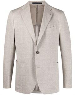 Однобортный пиджак с узором шеврон Tagliatore