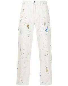Прямые джинсы с эффектом разбрызганной краски Alchemist