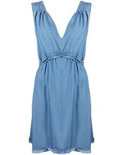 Джинсовое платье с необработанными краями Pinko
