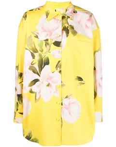 Платье рубашка мини с цветочным принтом Valentino