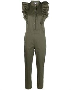 Комбинезон с оборками и прямыми брюками Patrizia pepe