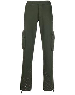 Спортивные брюки с эффектом разбрызганной краски Off-white