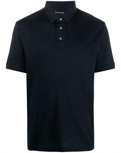 Рубашка поло с отделкой в полоску Emporio armani