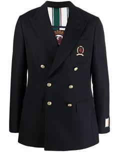 Двубортный пиджак с вышивкой Tommy hilfiger
