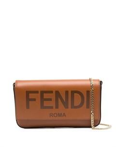 Клатч с тисненым логотипом Fendi