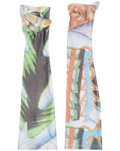 Перчатки с абстрактным принтом Chopova lowena