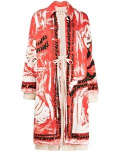 Пальто с принтом Marni