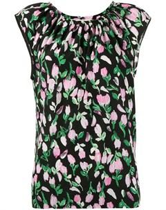 Блузка без рукавов с цветочным узором Marni