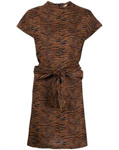 Ярусное платье с тигровым принтом Roseanna
