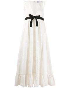 Длинное платье с бантом Red valentino