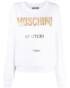 Толстовка Couture с вышитым логотипом Moschino