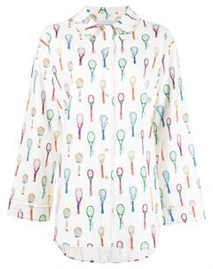 Рубашка оверсайз с принтом Racket Mira mikati