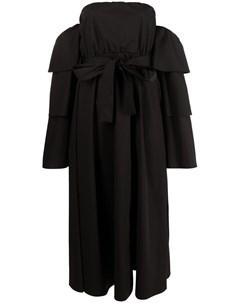 Платье The Black Tag с ярусными рукавами Red valentino