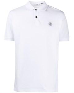Рубашка поло с нашивкой логотипом Stone island