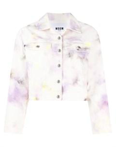 Джинсовая куртка с узором Msgm