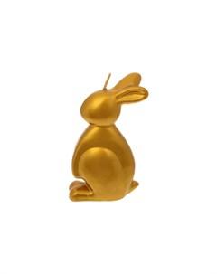 Свеча 11 см Пасхальный заяц золотой Adpal
