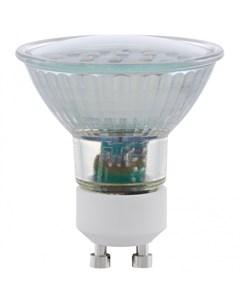 Светодиодная лампа GU10 2х5W 4000K белый Eglo