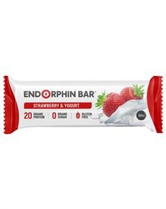 Батончик протеиновый Клубника йогурт 60 г Endorphin bar