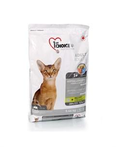 Hypoallergenic Гипоаллергенный сухой корм для взрослых кошек с уткой и картофелем 5 44 кг 1st choice