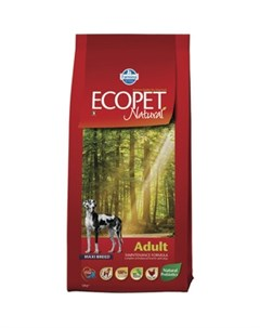 Сухой корм Ecopet Natural Adult Dog Maxi Chicken с курицей для взрослых собак крупных пород 12кг Farmina