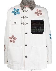 Куртка рубашка с цветочной аппликацией Alchemist