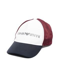 Шестипанельная кепка с логотипом Emporio armani kids