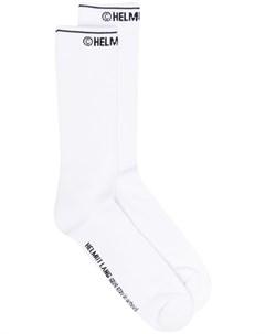 Носки вязки интарсия с логотипом Helmut lang