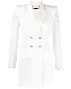 Короткое платье блейзер с кружевом Philipp plein