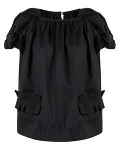 Полосатая блузка со сборками Comme des garçons tricot
