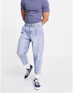 Светло голубые джинсы бананы Tom tailor