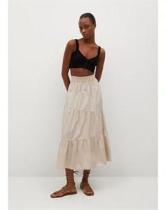 Хлопковая юбка с воланом Pipa Mango