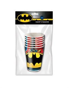 Набор бумажных стаканов 6 штук Batman