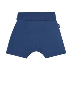 Синие шорты с принтом краб детские Sanetta kidswear