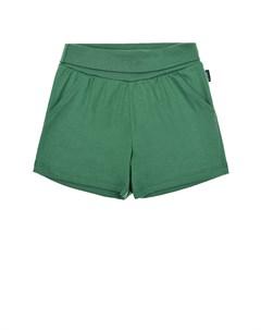 Зеленые шорты с эластичным поясом детские Sanetta kidswear