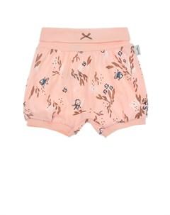 Розовые шорты с морскими мотивами детские Sanetta kidswear