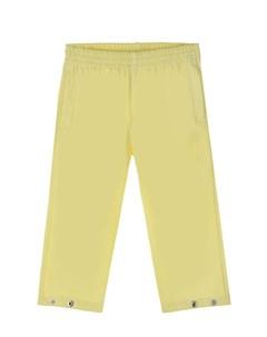 Желтые брюки из экокожи детские Gosoaky