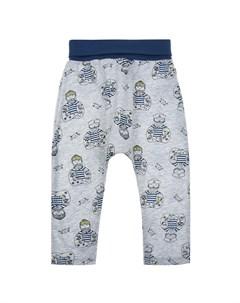 Серые брюки с принтом моряк детские Sanetta kidswear