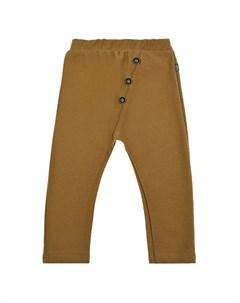 Хлопковые брюки горчичного цвета детские Sanetta pure