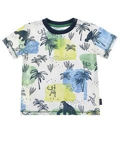 Футболка с тропическим принтом детская Sanetta kidswear