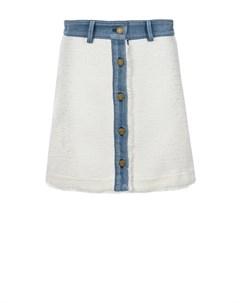 Белая джинсовая юбка Ermanno ermanno scervino