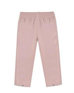 Розовые брюки из экокожи детские Gosoaky