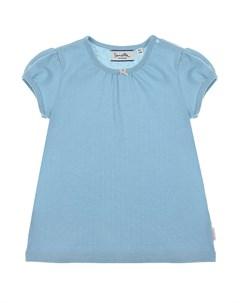 Голубая футболка с рукавами фонариками детская Sanetta fiftyseven