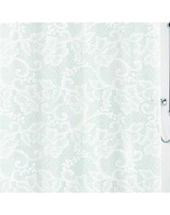 Шторка для ванной Spitze White 180x200 см PEVA Kleine wolke