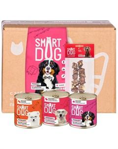 Smart Box Мясной рацион для умных собак крупных пород 1 5 кг Smart dog